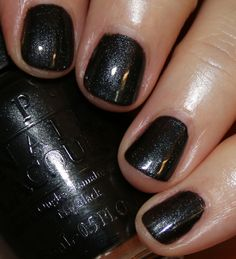 Black dress not optional opi acrylic nail
