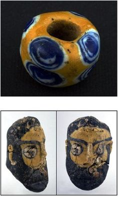 In this context, perhaps the most interesting glasswork produced by the Celts were the 'Face/Head Beads' (Fig. 2) These have been found at a number of Celtic burials and other sites from central (Germany, Switzerland etc.) and eastern Europe (Czech Republic, Hungary, Romania, Bulgaria etc.) (7).