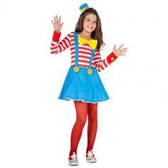 Disfraz de Payasa con tirantes para niña #disfraces #carnaval #novedades2017