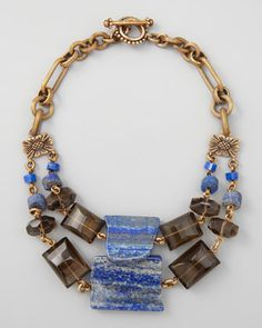 Double-Strand Blue Lapis Necklace by Stephen Dweck at Neiman Marcus.