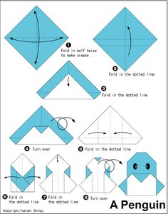 Money Origami Instructions for Beginners | easy origami origami penguin folding instructions origami club penguin ...