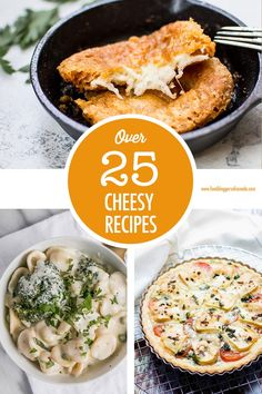 Cheese please! Over 25 creative cheesy recipe ideas for you to make and enjoy - including some vegan cheese options! Canadian Cheese, Canadian Food, Vegan Cheese Recipes, Cheesy Recipes, Greek Fried Cheese, Side Dish Recipes, Side Dishes, Cheese Dishes, Most Popular Recipes