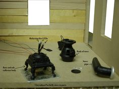LED wiring for Dollhouse Miniatures: Part 5 Constructing Fixtures