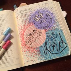 Illustrated faith bible art journaling let everything that has breath praise the Lord psalm 150