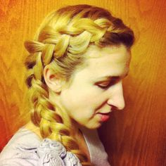 Thick dutch-frenchtail braid