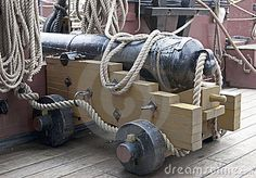 ship cannon and rope rigging - Google Search