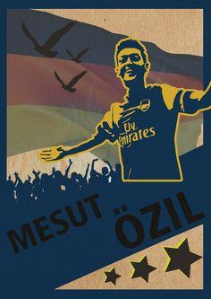 Mesut Özil Poster by Hillary Njo