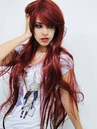 hermoso cabello pelirojo largo