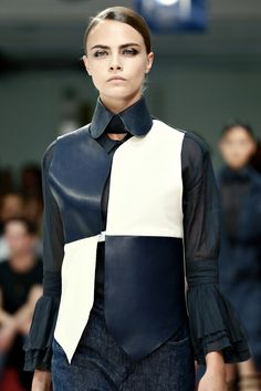 #Acne ss'13 #leather #black and white