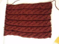 Peligro novatas tejiendo!!!!: Patrón bufanda con ochos