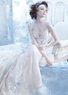 Lazaro Fall 2013 Bridal Gown Collection  | bellethemagazine.com if I wanted to do something totally different, looks like a formal fall or winter dress