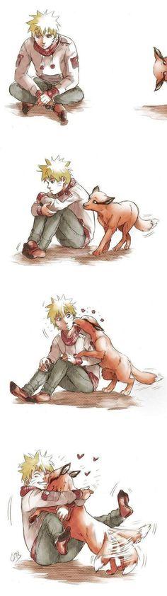 Naruto and Kurama. Love, love, love this >> anime manga Otaku Anime, Anime Naruto, Manga Anime, Naruto Cute, Sasunaru, Naruto Shippuden Anime, Naruto And Sasuke, Gaara, Hinata