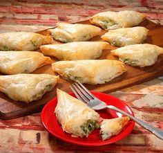 Fancy pot luck dishes.  This spanikopita  was featured in a Penzey's catalog #Home