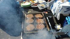 Burgers on the grill for the tailgate #PSU #Football  Get 25 Professional BBQ Pitmaster Recipes for Free at http://cavetools.com/free-recipes
