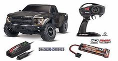﹩269.95. Traxxas 580941 2017 R/C Ford Raptor RTR w/ TQ 2.4GHz WP w/ XL-5 TRA580941T1 HH    Type - Trucks  Truggies, Fuel Source - Electric, State of Assembly - Ready-to-Go, Scale - 1:10, Color - Black, Fuel Type - Electric, Required Assembly - Ready to Go/RTR/RTF (All included), Motor Type - Brushed, 4WD/2WD - 2WD, Replica of - Ford, UPC - 020334583017
