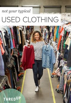 thredUP is the world's largest online thrift store where you can buy and sell high-quality secondhand clothes. Find your favorite brands at up to off. Thrift Store Shopping, Online Thrift Store, Fashion Outfits, Womens Fashion, Fashion Trends, Used Clothing, Size Clothing, Second Hand Clothes, Sport