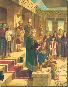 A series of summaries of stories in the Book of Mormon.  This one is about King Benjamin.
