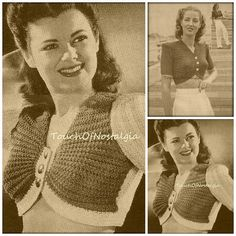 Knitting Patterns - INSTANT DOWNLOAD  Very Chic - CROPPED MIDRIFF SWEATERS (Both Styles Included Vintage Knitting Pattern Reproduction (APW-447S/446A)  BOTH STYLE INCLUDED  Description: You Will Look Very Sexy in One of These Cropped Midriff Sweaters. Perfect For the Spring or Summer Months! The First Style Is a Chic Midriff Sweater Made In Two or Three Color - The Original Was Made in Patriotic Red, White, and Blue With the Edges, Sleeves and Back in White , But Would Also Look Lovely I...