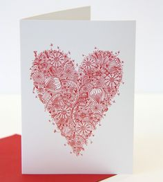 Zentangle Heart Card