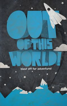 Out of this World! Graphic Artwork, Graphic Design Posters, Graphic Design Typography, Typography Inspiration, Graphic Design Inspiration, Typography Tumblr, Kindergarten Projects, 3d Text, Space Aliens