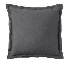 Belgian Flax Linen Flange Pillow Cover, 18X18