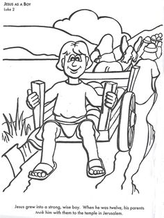Learn Bible Stories With Jesus As A Boy Coloring Page