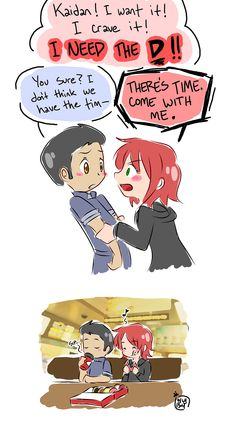 Kaidan and Shepard, I don't usually like the pairing, but this is cute XD