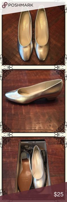 "Vintage new-in-box silver heels Vintage new-in-box! 1"" silver heels in size 6N. By Easy Street USA. Easy Street USA Shoes Heels"
