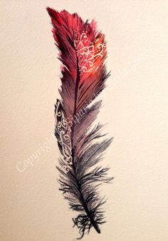 Red feather design on Etsy, $20.00 Copyright to Carla James @ siparia