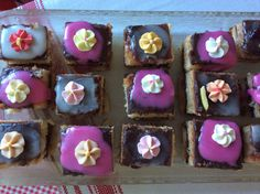 My first, rather pitiful attempt at making petits-fours.