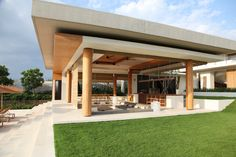 At the centre of the property is the delightful open-sided living and dining pavilion and infinity pool.