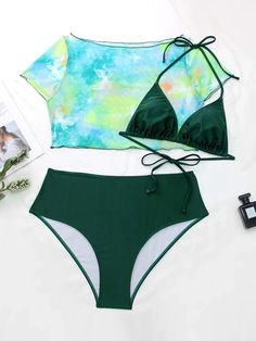 Tie And Dye, Tie Dye, Outfits For Teens, Summer Outfits, Bikini Outfits, Bikini Swimsuit, Butterfly Print, Swimsuits, Swimwear