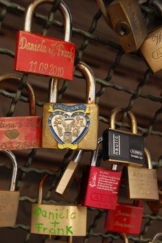 Love padlocks on the Hohenzollernbrücke