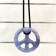 Lavender Glass Peace Sign FREE Shipping Hippie by ChristaJoGlass