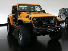 Want to know what Jeep Performance Parts are available for the Wrangler? Just look at the Nacho Jeep concept. Jeep Jk, Jeep Truck, Jeep 2018, Jeep Performance Parts, Orange Jeep, Easter Jeep Safari, Jeep Concept, Jeep Brand, Badass Jeep