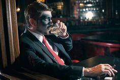 © Anna Lee Media   Oklahoma Fashion Photographer, zombies, conceptual series, makeup, dramatic, creepy, dark, Makeup, Mad Men, bar, editorial