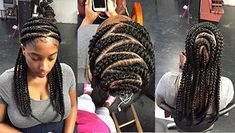Feed in Braids is the well-known styles of black women. Here is a lovely feed in braid hairstyle for beautiful women. The hair density