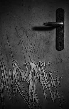 """Scratched"" by Mighty Maik. Shot in an abandoned psychiatric hospital in the Netherlands. A door to one of the patient's room is pretty badly scratched by someone...or something... #asylum"