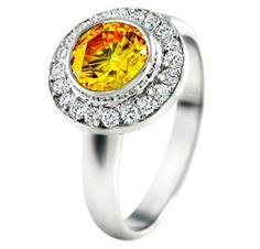 #yellow-diamond-engagement-ring    Buy Now ! repin .. like .. share :)    $919.00   http://amzn.to/X5zCV3