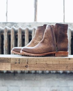 The Natalie Double Zip is laser-cut in Italy for a truly one-of-a-kind textured finish; no two boots look alike (though our factory matched up the perfect pairings!) | The Frye Company