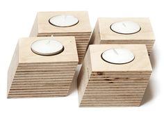 Teelichthalter aus Holz von Alessa auf DaWanda.com