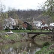 old victorian homes in weston west virginia and streets | The West Fork River running under the 4th Street Bridge in Weston WV ...