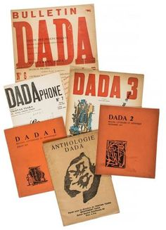 Tzara (Tristan, editor) - first seven numbers of Dada magazine, featuring contributions by Tristan Tzara, Prampolini, Janco, Aragon, Pound, Ribemont Dessaignes, Eluard and Breton, including designs by Francis Picabia. Estimate £15000–20000 oct2014