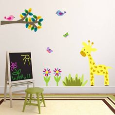 Jungle Giraffe And Branch Wall Sticker from notonthehighstreet.com