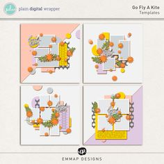 Go Fly A Kite (Templates) by EmmaP Designs