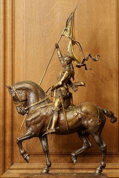 Statues of Jeanne d'Arc - Wikimedia Commons Joan D Arc, Saint Joan Of Arc, St Joan, Horse Sculpture, Bronze Sculpture, Joan Of Arc Statue, St Louis Cathedral, Statues, Equestrian Statue
