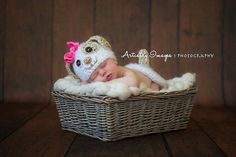 Fesses & chapeau chien chiot couvrent nouveau-né 0 3M Crochet souple Photo Prop bébé vêtements garçons filles cadeau Baby Shower Gift Super mignon toute l