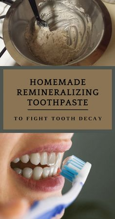 Change the oral health. Keep reading and see how to make your own DIY remineralizing toothpaste so you can successfully fight tooth decay. Oral Health, Dental Health, Dental Care, Health Care, Gum Health, Toothpaste Recipe, Remedies For Tooth Ache, Receding Gums, Best Oral
