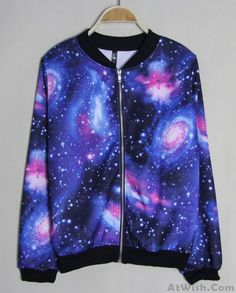 Wow~ Awesome New Style Gradient Universe Star Jacket Sweater! It only $34.99 at www.AtWish.com! I like it so much<3<3!