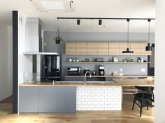 \ my home diary /さん( Interior Modern, Kitchen Interior, Modern Exterior, Kitchen Office, Kitchen Dining, Dining Rooms, Japanese Kitchen, Kitchen Wallpaper, Kitchen Collection